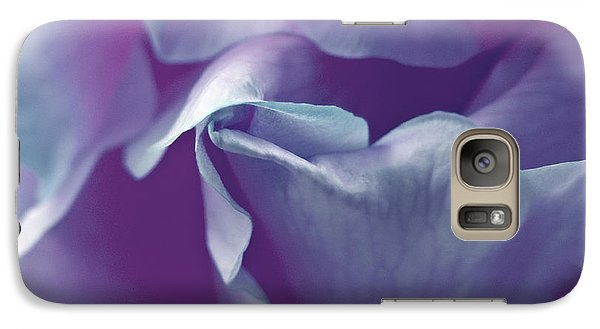 Galaxy Case featuring the photograph Abstract Blue Purple Green White Flowers Art Work Photography by Artecco Fine Art Photography