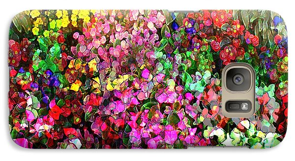 Galaxy Case featuring the mixed media Floral Basket 1 2 To 1 Aspect Ratio by Terence Morrissey