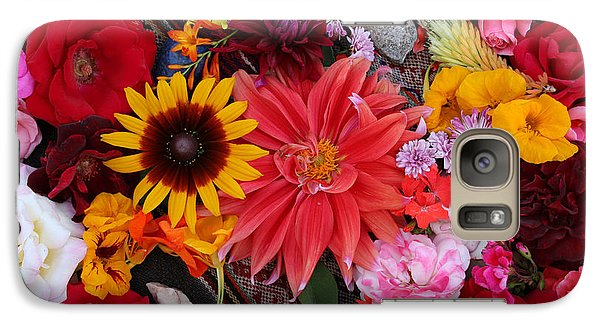 Galaxy Case featuring the photograph Floral Bounty by Jeanette French