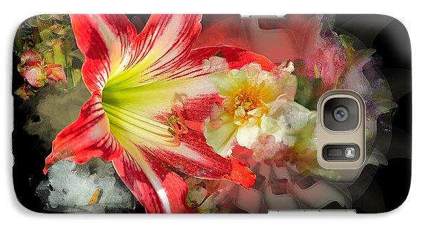 Galaxy Case featuring the digital art Floral Explosion by Davina Washington