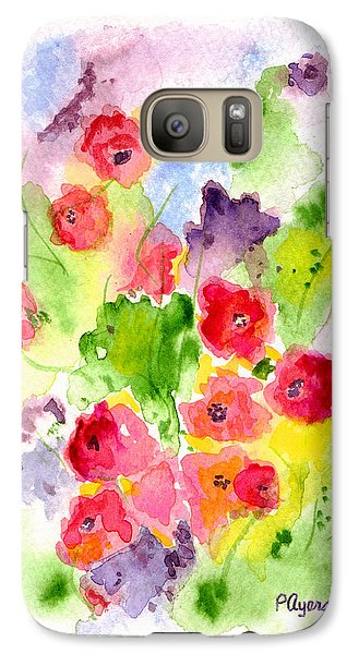 Galaxy Case featuring the painting Floral Fantasy by Paula Ayers