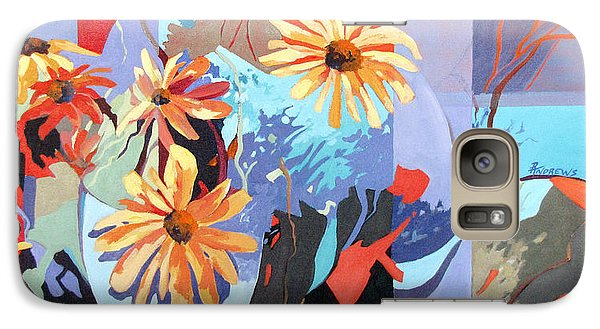 Galaxy Case featuring the painting Floral Fragments by Rae Andrews