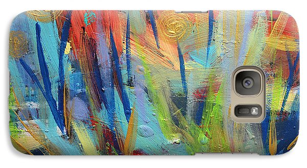 Galaxy Case featuring the painting Floral Harmony by Stacey Zimmerman