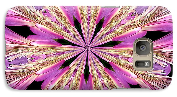 Galaxy Case featuring the photograph Floral Kaleidoscope  Waterlily by Rose Santuci-Sofranko