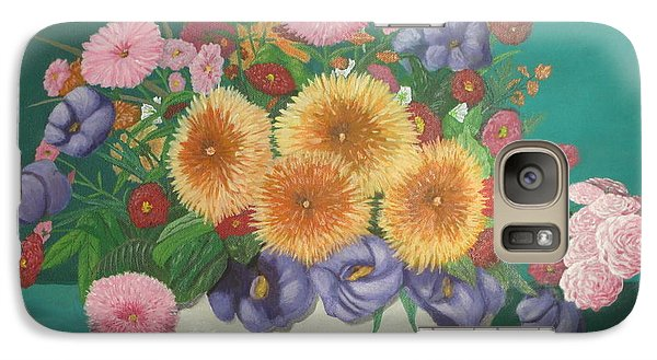 Galaxy Case featuring the painting Floral Study by Hilda and Jose Garrancho