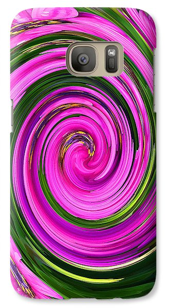 Galaxy Case featuring the photograph Floral Swirl 2 by Margaret Saheed