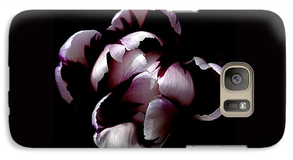 Floral Symmetry Galaxy S7 Case by Rona Black