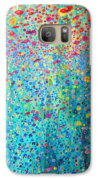 Galaxy Case featuring the painting Floral Symphony by Stacey Zimmerman