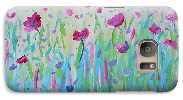 Galaxy Case featuring the painting Floral Whispers by Stacey Zimmerman