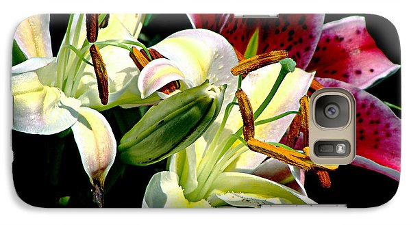 Galaxy Case featuring the photograph Florals In Contrast by Ira Shander