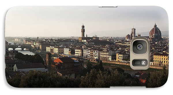 Galaxy Case featuring the photograph Florence Form The Piazza Michalengelo by Belinda Greb