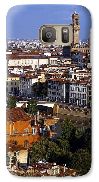 Galaxy Case featuring the photograph Florence Morning 2 by Henry Kowalski