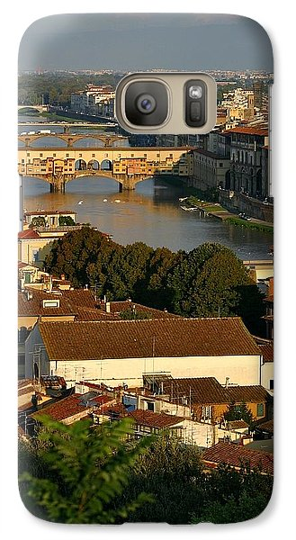 Galaxy Case featuring the photograph Florence Morning 3 by Henry Kowalski