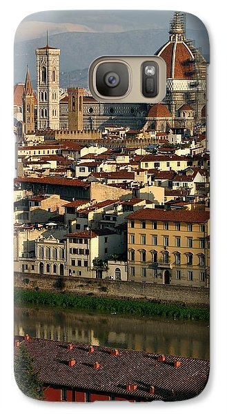 Galaxy Case featuring the photograph Florence Morning by Henry Kowalski