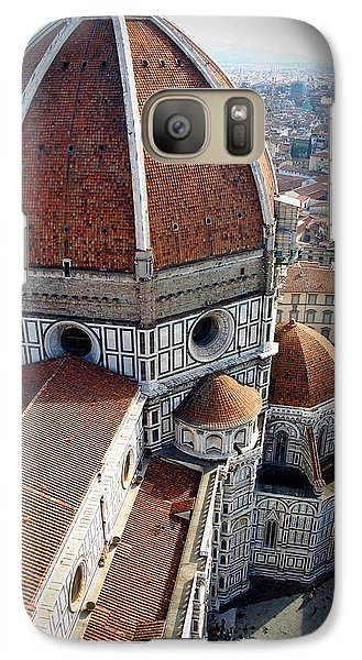 Galaxy Case featuring the photograph Florence Tile Roof Church by Henry Kowalski