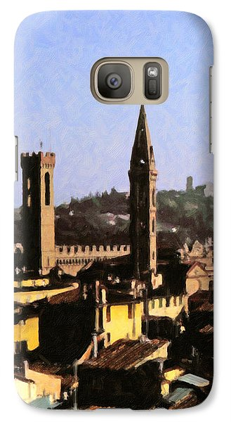 Galaxy Case featuring the digital art Florence Towers by Spyder Webb