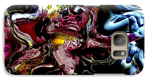 Galaxy Case featuring the digital art Flores' Darker More Uncomfortable Twin by Richard Thomas