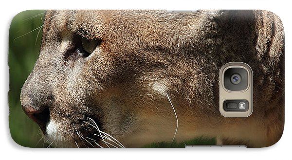 Galaxy Case featuring the photograph Florida Panther Profile by Meg Rousher