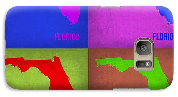 Florida Pop Art Map 1 Galaxy Case by Naxart Studio