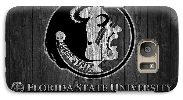 Florida State Galaxy S7 Case - Florida State University Black And White Barn Door by Dan Sproul