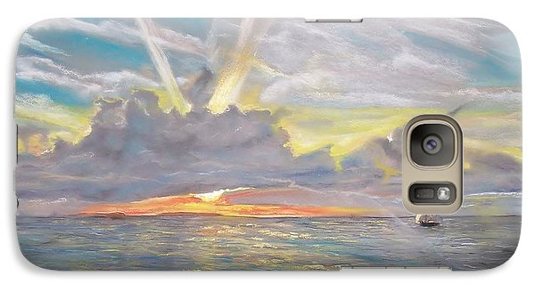Galaxy Case featuring the pastel Florida Sunset by Peter Suhocke