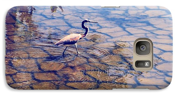 Galaxy Case featuring the photograph Florida Wetlands Wading Heron by David Mckinney