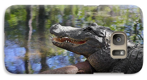 Florida - Where The Alligator Smiles Galaxy Case by Christine Till