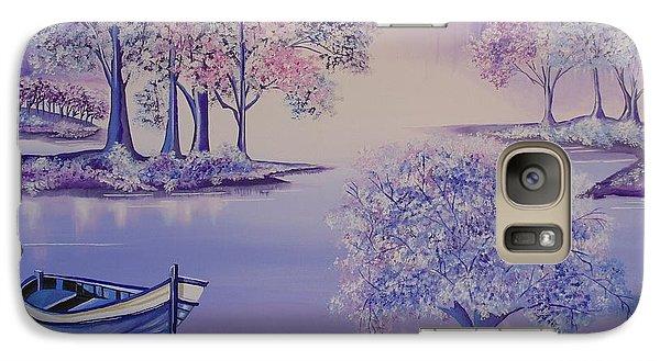 Galaxy Case featuring the painting Flourish II by Nereida Rodriguez