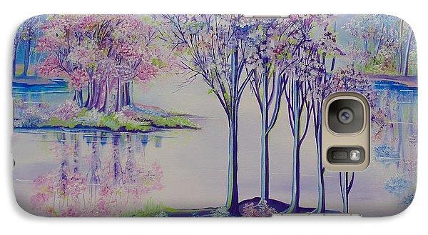 Galaxy Case featuring the painting Flourish by Nereida Rodriguez