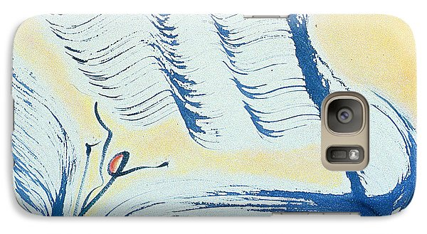 Galaxy Case featuring the painting Flow by Asha Carolyn Young