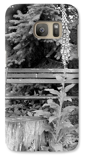 Galaxy Case featuring the photograph Flower And Bench by Patricia Januszkiewicz