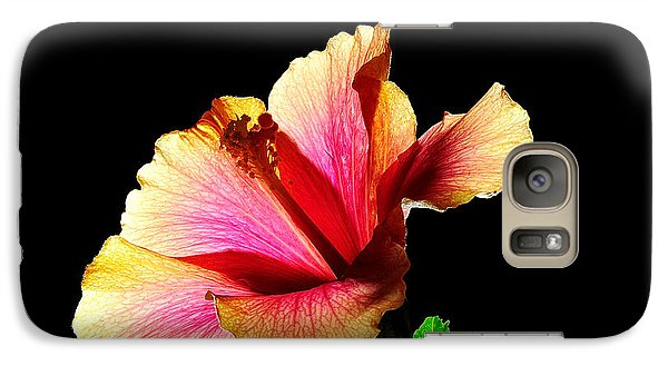 Galaxy Case featuring the photograph Flower At Night by Marwan Khoury