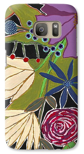 Galaxy Case featuring the mixed media Flower Bouquet by Lisa Noneman