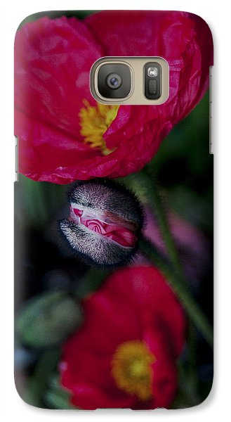 Galaxy Case featuring the photograph Flower Bud by Haleh Mahbod