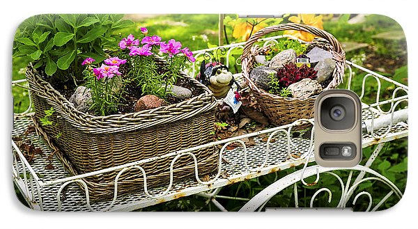 Garden Galaxy S7 Case - Flower Cart In Garden by Elena Elisseeva