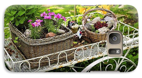 Flower Cart In Garden Galaxy S7 Case