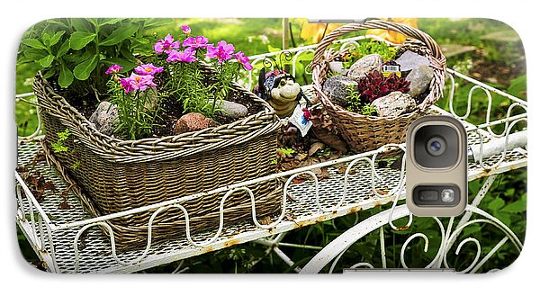 Flower Cart In Garden Galaxy Case by Elena Elisseeva
