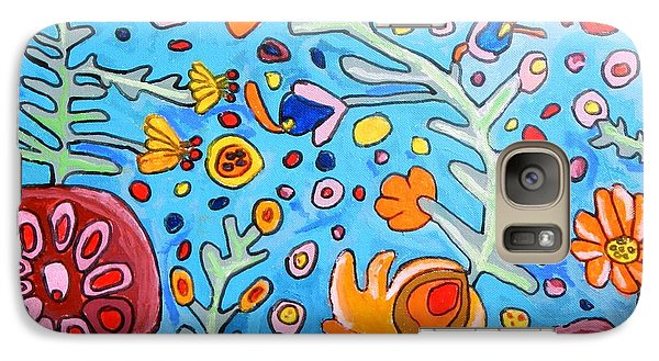 Galaxy Case featuring the painting Flower Dream by Artists With Autism Inc
