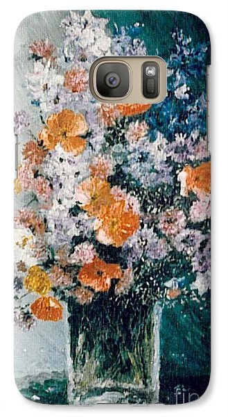 Galaxy Case featuring the painting Flower Field by Sorin Apostolescu