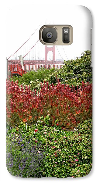 Galaxy Case featuring the photograph Flower Garden At The Golden Gate Bridge by Connie Fox