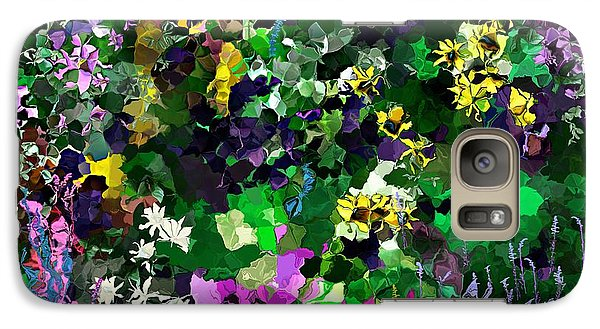 Galaxy Case featuring the digital art Flower Garden by David Lane