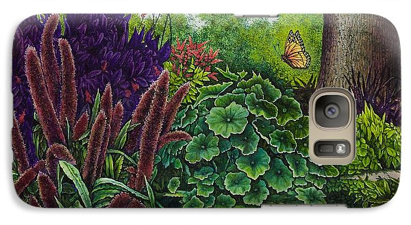 Galaxy Case featuring the painting Flower Garden V by Michael Frank