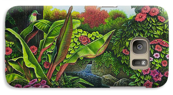 Galaxy Case featuring the painting Flower Garden Vi by Michael Frank
