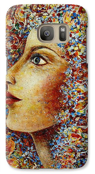Galaxy Case featuring the painting Flower Goddess. by Natalie Holland