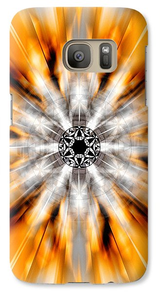 Galaxy Case featuring the drawing Flower Grid Sixty-three by Derek Gedney