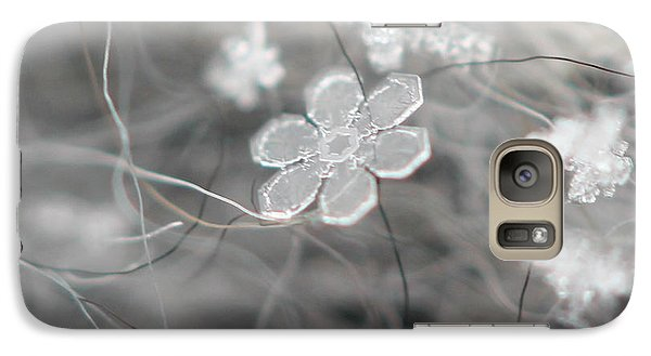 Galaxy Case featuring the photograph Flower In The Snow by Stacey Zimmerman