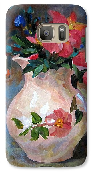 Galaxy Case featuring the painting Flower In Vase by Jieming Wang
