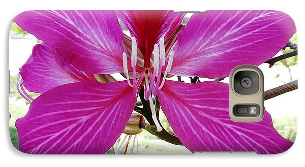 Galaxy Case featuring the photograph Flower by Julia Ivanovna Willhite