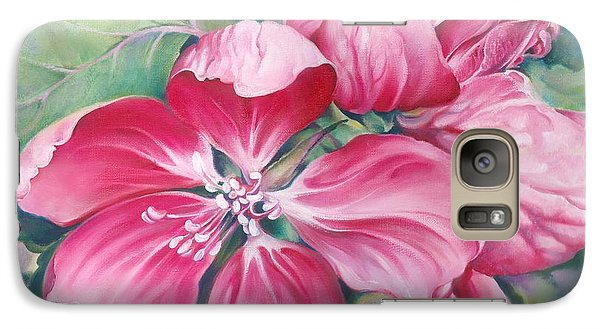 Galaxy Case featuring the painting Flower Of Crab-apple by Anna Ewa Miarczynska