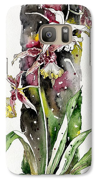 Galaxy Case featuring the painting Flower Orchid 03 Elena Yakubovich by Elena Yakubovich